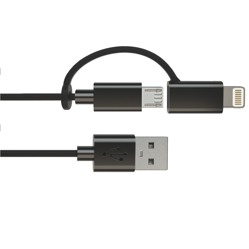 microUSB и Apple Lighting кабель 2 в 1
